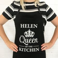 Personalised Printed Mother's Day Black Apron Present