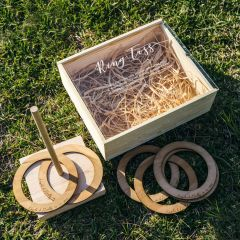 Personalised Engraved Wooden Wedding Ring Toss Game