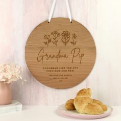 Personalised Engraved Mother's Day Wooden Wall Plaque Grandma Present