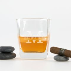 Personalised Engraved Birthday boys Name Scotch Glass Present