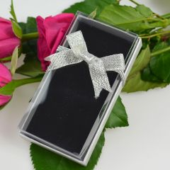 Presentation Gift Box with Silver Ribbon