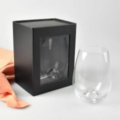 Stemless Wine box black presentation box with magnetic lid