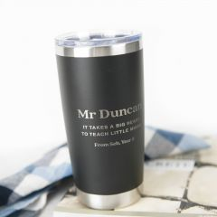 Personalised Engraved Stainless Steel Insulated Travel Mug 590ml Teacher's Gift