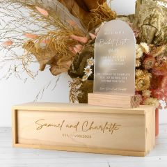 Personalised Engraved Bucket List Sign with Wooden Keepsake Box Wedding Decoration