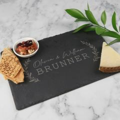 Personalised Engraved Rectangle Wedding Slate Cheese Board Bride and Groom Gift