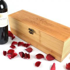 Personalised Engraved Bride and Groom Bamboo Wine Box Wedding Gift
