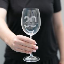 Personalised Engraved 30th Birthday Milestone 360ml Wine Glass Present