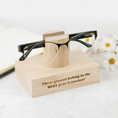 Personalised Engraved Tasmanian Oak Reading Glasses Stand Teacher's Gift