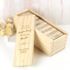 "Personalised Engraved Mother's Day Engraved Wooden ""Building Memories"" Tumbling Tower Present"