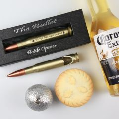 Personalised Engraved Christmas Corporate Brass Bullet Opener Client Present