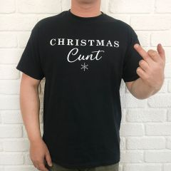Inappropriate Christmas black t-shirt