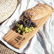 Personalised Engraved Deluxe Acacia Wood 62cm Tapas Serving Board Birthday Present