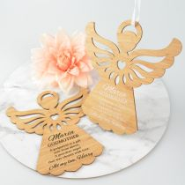 Personalised Printed Godparents Angel Decoration Present