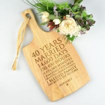 Personalised Engraved Anniversary Cheese Chopper Serving Paddle Board Present