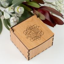 Personalised Engraved Wooden Wedding Ring Box
