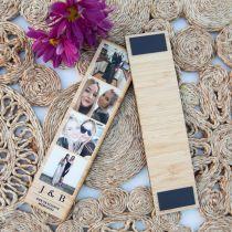 Personalised Bamboo Photobooth Style 4 Photo Strip Birthday Present