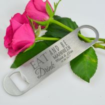 Personalised Engraved Barmate Wedding Favour Bottle Opener Bomboniere