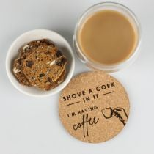 Personalised Engraved Barware Cork Coaster