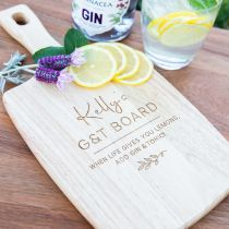 Personalised Engraved barware Wooden Paddle Board Present