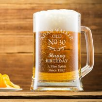 Personalised Engraved 30th Birthday Beer Mug Present