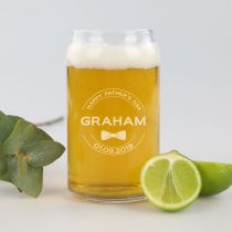 Personalised Engraved Father's Day beer Can Glass Present