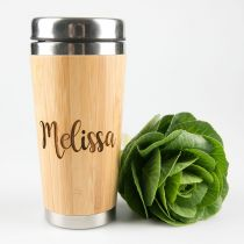 Personalised Bamboo Travel Mug