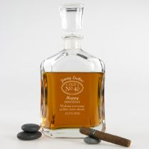 Personalised Laser Engraved Deluxe Birthday Whiskey Decanter Present