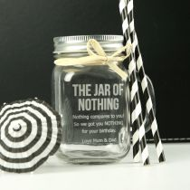 Personalised Engraved 'Jar of Nothing' Birthday Gift