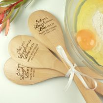 Personalised Engraved 3 Piece Wooden Spoon Birthday Gift Set
