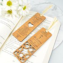 Personalised Engraved Laser Cut Godparent Wooden Bookmark Present for Christening, Baptisms & Naming Days