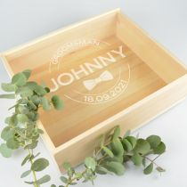 Personalised Engraved Groomsman Bridal Party Box  Favour Gift