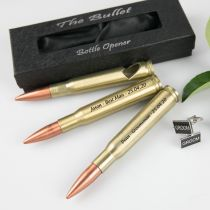 Engraved Personalised Grooms, Best Man & Groomsman Bullet Bottle Opener