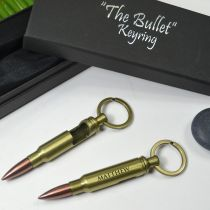 Personalised Engraved Groomsman Bullet Bottle Opener Keyrings Favour