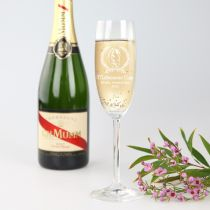 Personalised Engraved Melbourne Cup Champagne Glass Prize