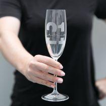 Personalised Engraved Birthday 21st Milestone Champagne Glass Present