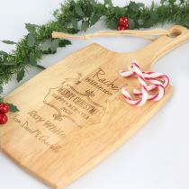Personalised Engraved Christmas Corporate Cheese Paddle Board Client Gift