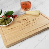 Personalised Engraved Rectangle Wooden Chopping Cheese Serving Board Christmas Secret Santa Gift