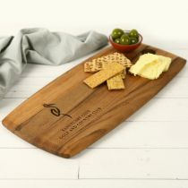Engraved Acacia Wood Tapas Serving Board Corporate Gift