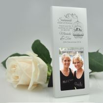 Personalised Engraved Bridal Party Bridesmaid Wedding Photo Frame Favour