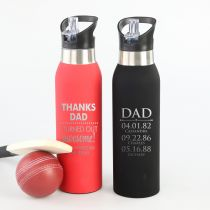 Personalised Engraved Father's Day Steel Thermo Sports Drink Bottles Present