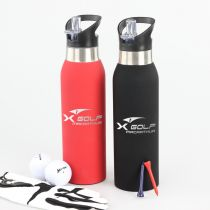 Personalised Engraved Red and Black Company Logo Promotional 500ml Sports Drink Bottle Client Gift