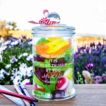 Personalised Engraved Teacher Appreciation Lolly jar Gift