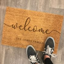 Personalised Engraved Family Surname Welcome Door Mat