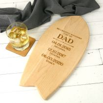 Personalised Engraved Wooden Father's Day Surfboard Gift