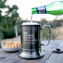 Personalised Engraved Father's Day Gunmetal Beer Mug Present