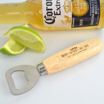 Personalised Engraved Father's Day Wooden Handle Bottle Opener Present