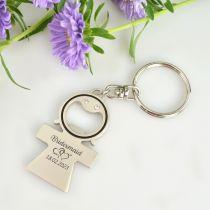 Custom Designed Engraved Bridesmaid Girl Bottle Opener Keyring Favour