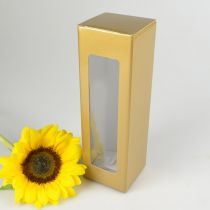 Gold Presentation Gift Box with Clear PVC Window
