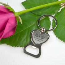 Engraved Wedding Gift Heart Bottle Opener