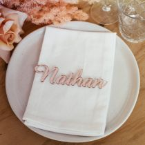 Laser Cut Rose Gold Acrylic Wedding Reception Name Place Card Favour